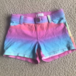 Cotton rainbow shorts, Size 5/6